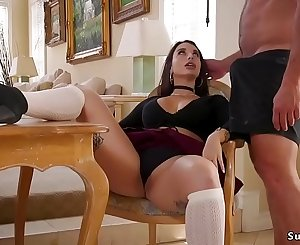 Dude whips two big asses step sisters