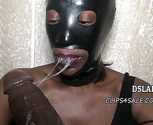 THIS IS DSLAF- My Homeboy's Grandma Puts On Restrain bondage Mask To Suck Dick